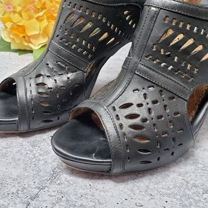 Indigo Shoes - Indigo by Clark's | Perforated Leather Heel Sandal